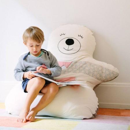 Doudou géant ours rose 100% fabriqué en France