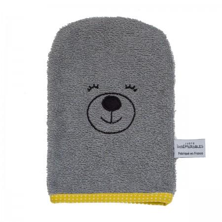 gant de toilette en coton biologique ours