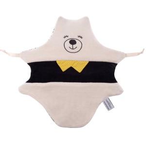 coffret deux doudous ours cadeau mixte fabrication française