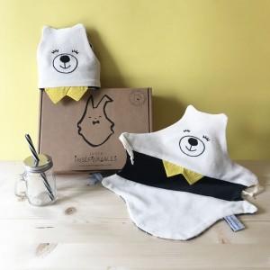 coffret-cadeau-jumeaux-doudou-plat-ours-fabrication française