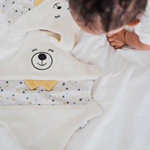 doudou ours en coton tout doux fabrication française