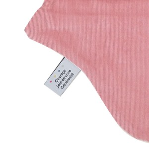 doudou plat rose made in france en coton