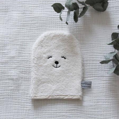 gant de toilette bébé en coton bio Juste Inséparables