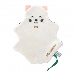 doudou chat personnalisable broderie