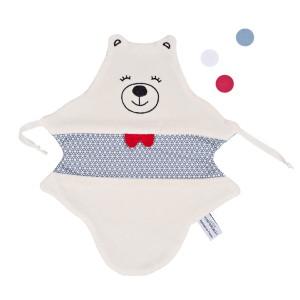 doudou plat made in france juste inseparables doudou ours bleu petillant vu de face