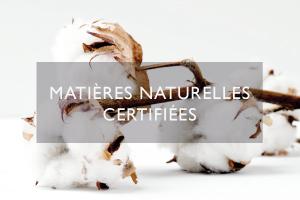 matières naturelles certifiées