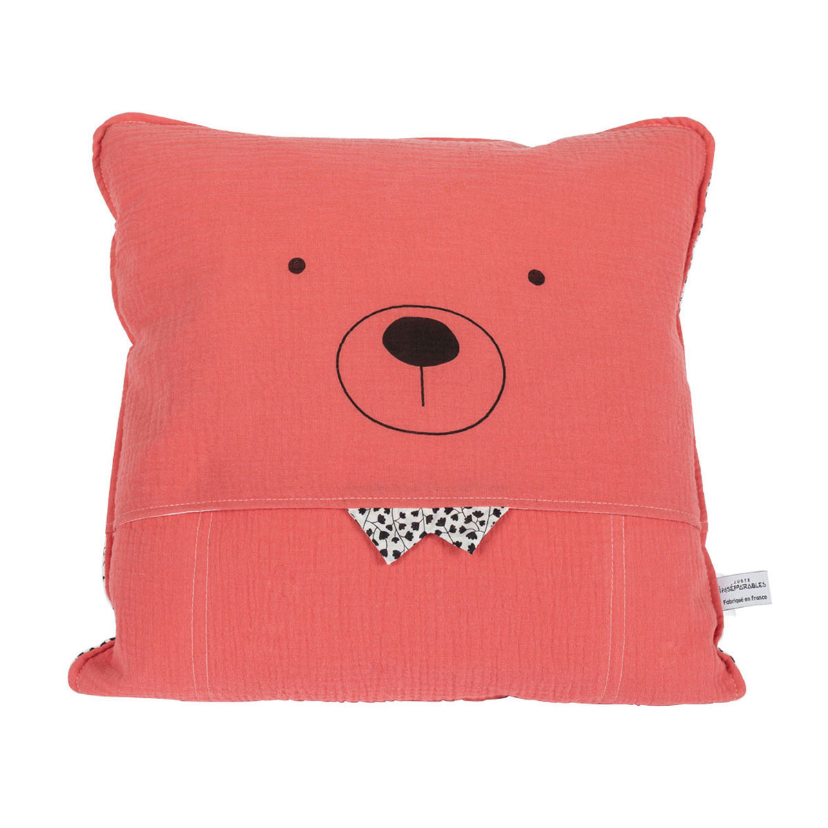 coussin colere corail