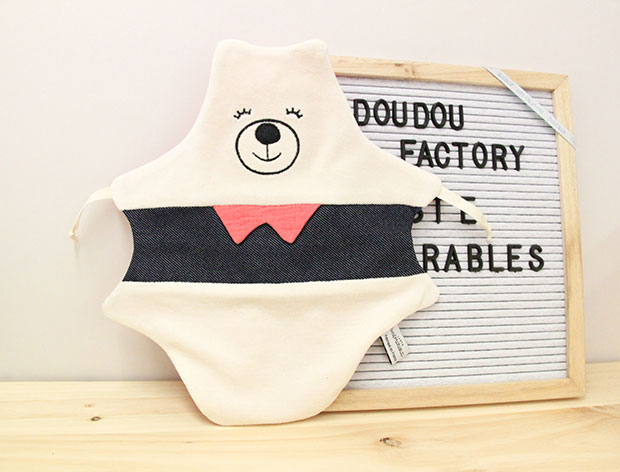 Doudou original pour bébé en jeans 1083