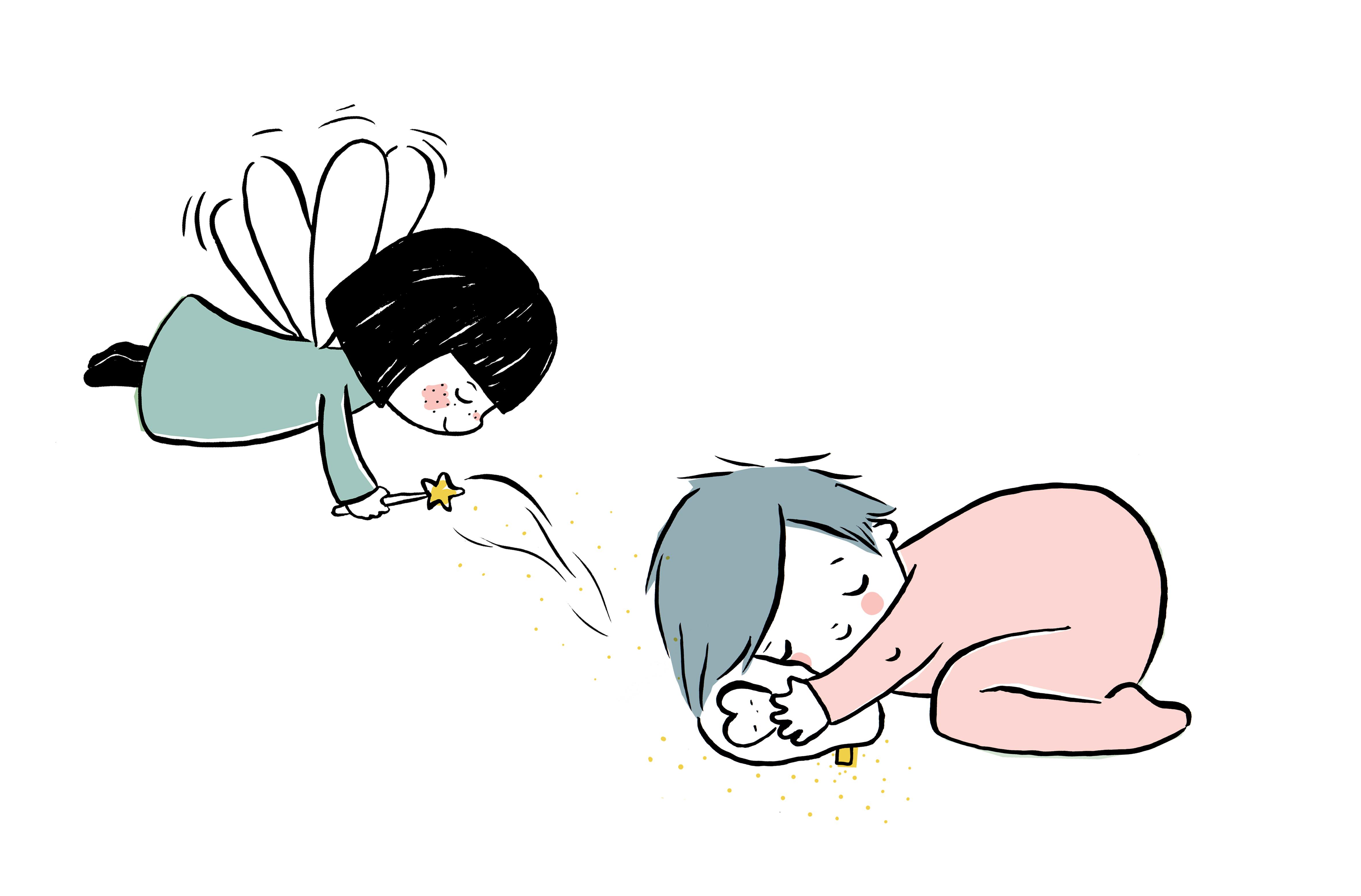 fée juste inséparables avec doudou bébé