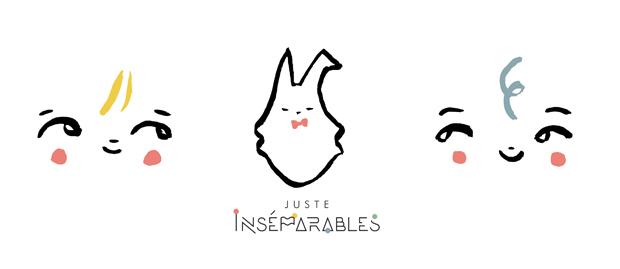 Illustrations d'Annelore Parot pour le lancement de la boutique en ligne pour la marque de doudous JUSTE SENSationnels JUSTE INSÉPARABLES