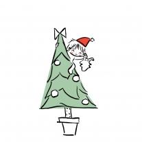Un doudou plat pour le 1er Noël bébé
